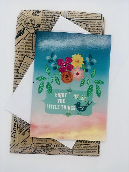 Enjoy the Little Things Blank Card