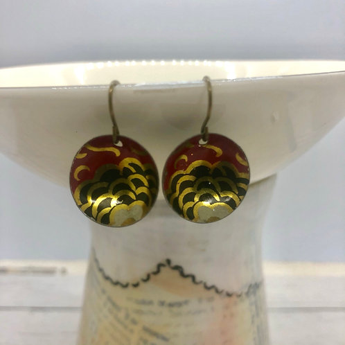 Mini Tin Dome Earrings