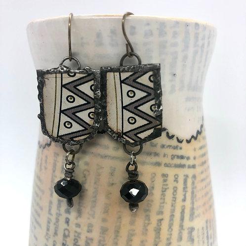 Tin & Bead Earring 3
