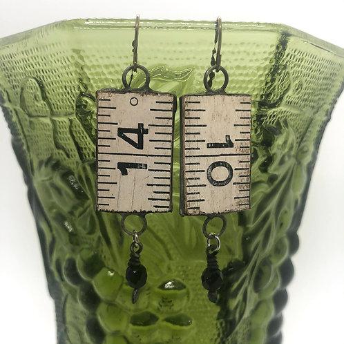 Vintage Ruler Earrings