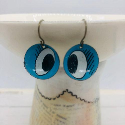 Mini Tin Dome Earrings