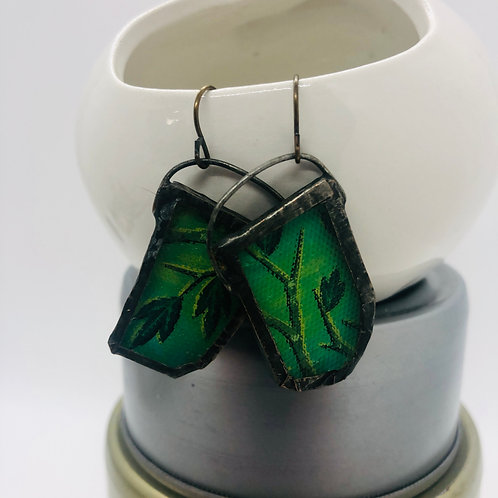 Graphic Glass Earrings 2
