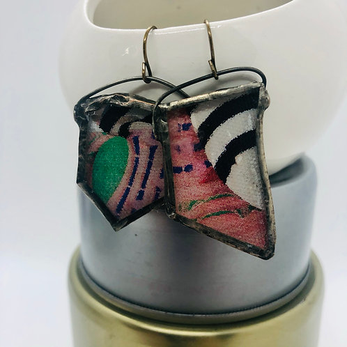 Graphic Glass Earrings 11