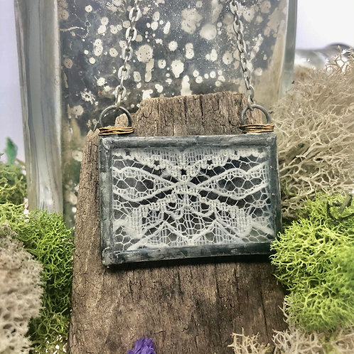 Lace Rectangle Necklace