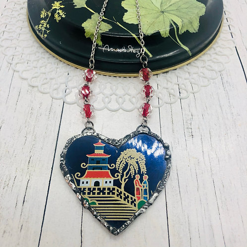 Tin Hearts Necklace - Temple