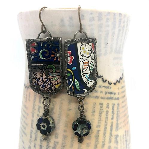 Tin & Bead Earring 8