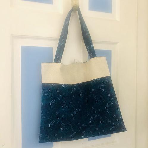Fruitcake Roll-Up Market Bag - Blue