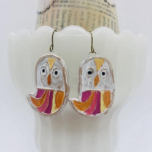Pink Birdie Earrings