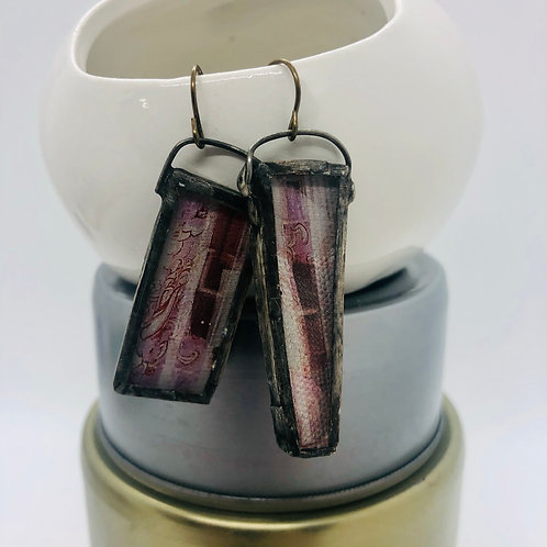 Graphic Glass Earrings 1