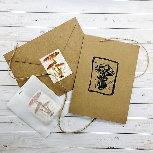Mushroom Card Set of 4