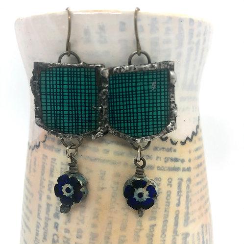 Tin & Bead Earring 2