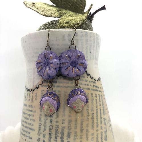 Lavender Fairy Earrings