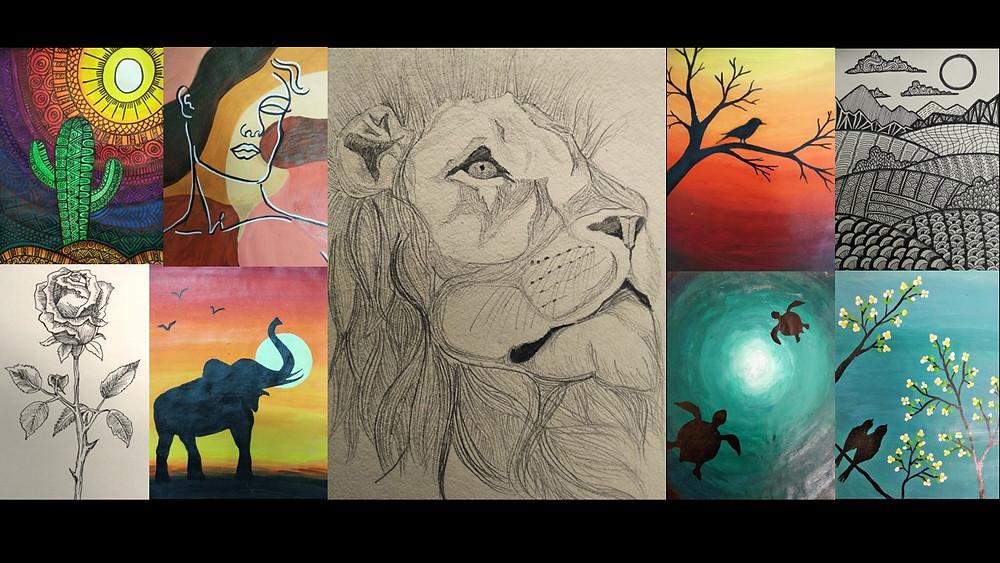 A sampling of Chaitanya's recent art.