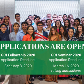GCI Applications 2020 Are Open!