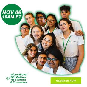 GCI's Informational Webinar on Nov 06 2021 for Students & Counselors/Teachers