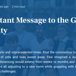 An Important Message to the GCI Community