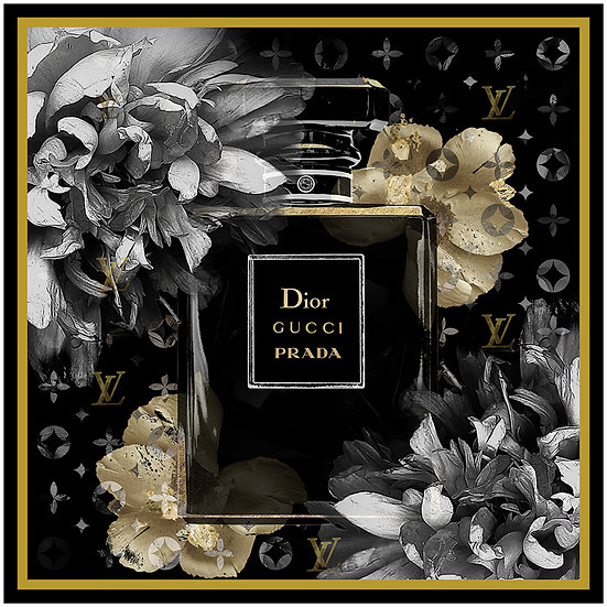 Designer Perfume Bottle Double Framed Print