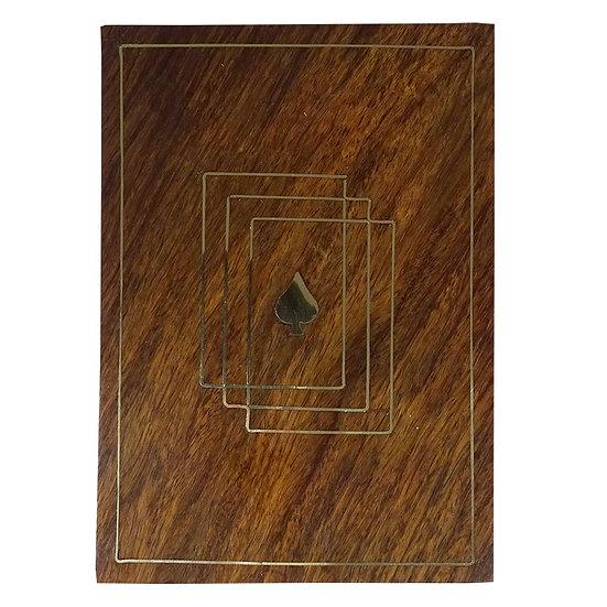 Brass Inlay Wooden Card Box