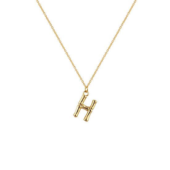 """H"" Initial Pendant Necklace"