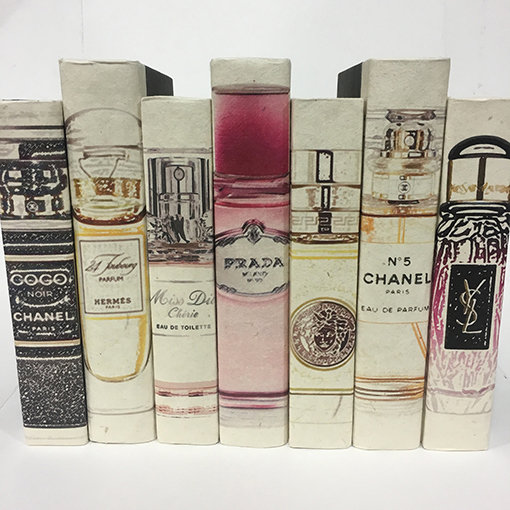 Designer Perfume Bottles Display Books