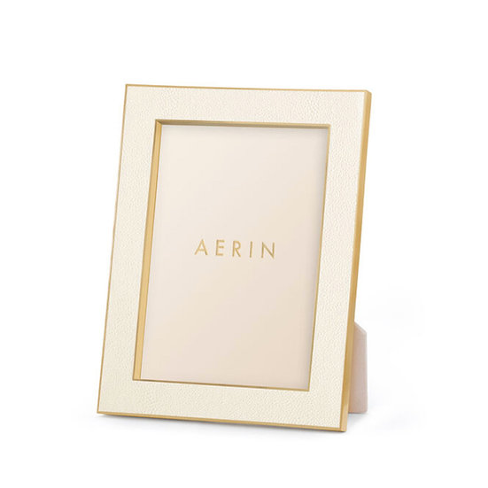 AERIN Classic Shagreen 5x7 Frame, Cream