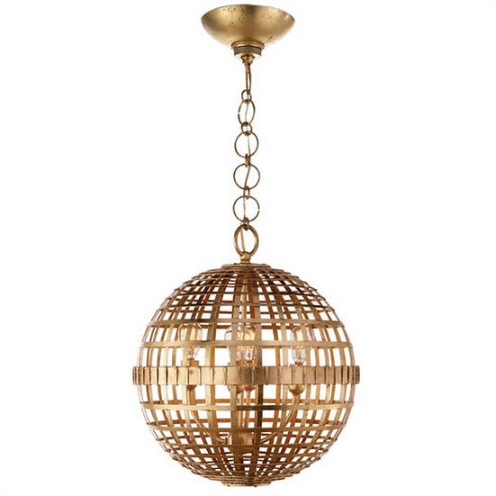 AERIN Mill Small Globe Lantern, Gild