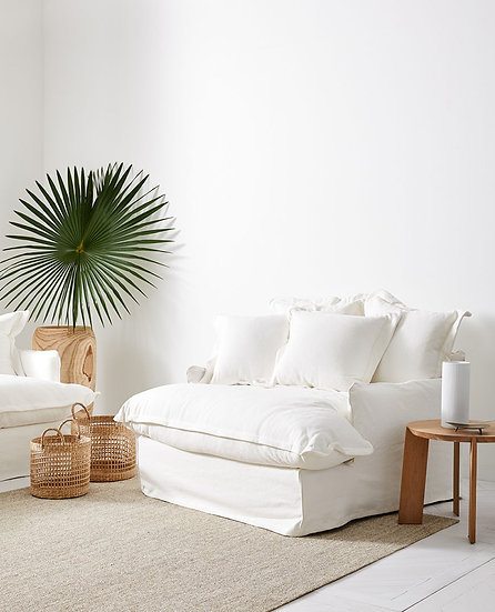 White 100% Cotton Oversized Armchair