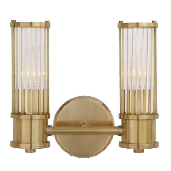 RALPH LAUREN Allen Double Sconce, Natural Brass