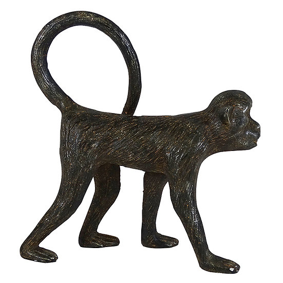 Monkey Statue in Cast Iron