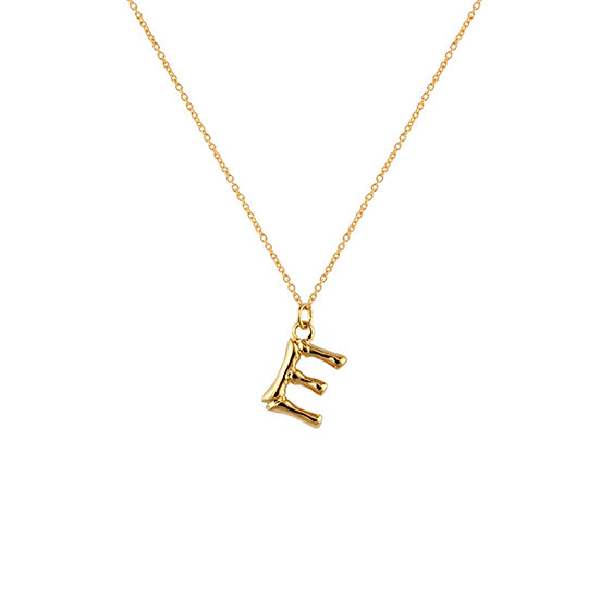 """E"" Initial Pendant Necklace"