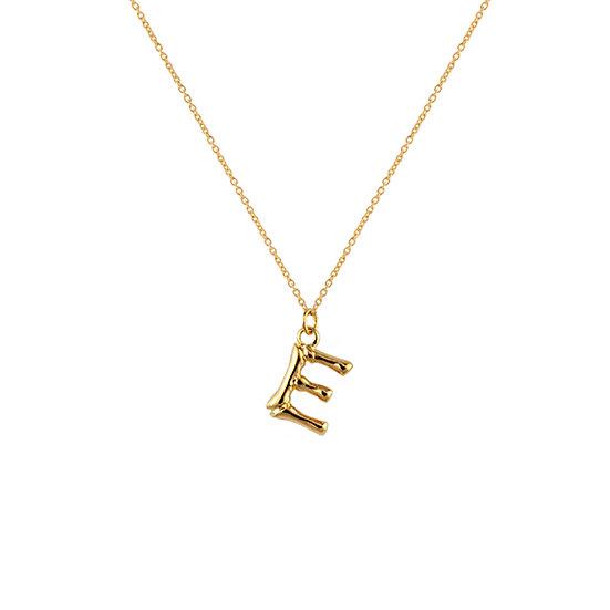 """E"" Initial Pendant Necklace"