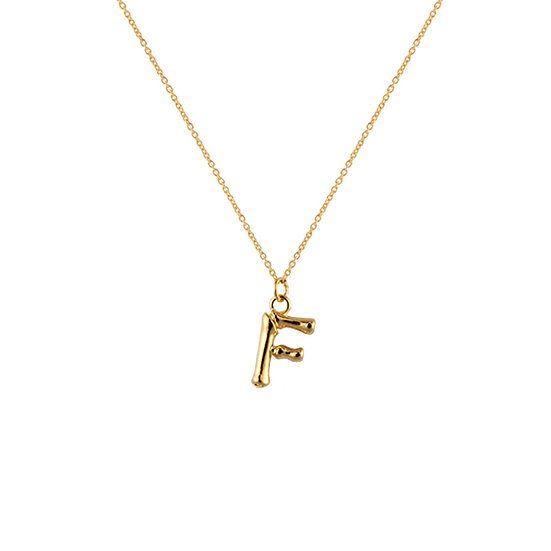 """F"" Initial Pendant Necklace"