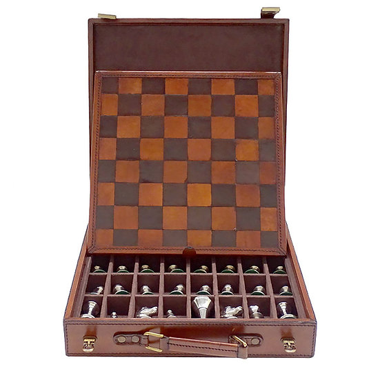 Chess Set in Leather Carry Case