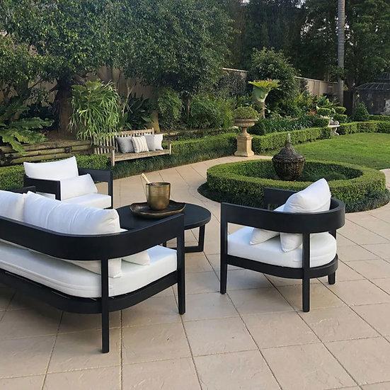 Outdoor Black Stain Teak Sofa & Armchair