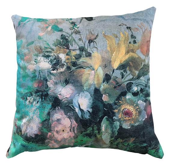 Cushion, Oil Painted Floral