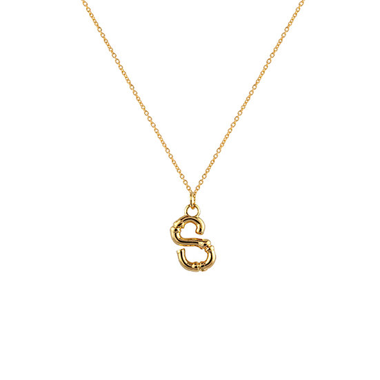 """S"" Initial Pendant Necklace"