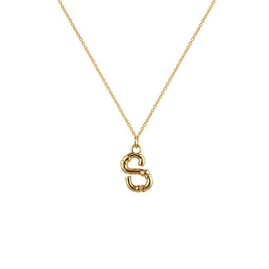 """S"" Initial Pendant Necklace"