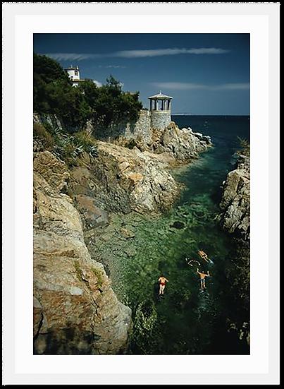 SLIM AARONS Swimming in Spain