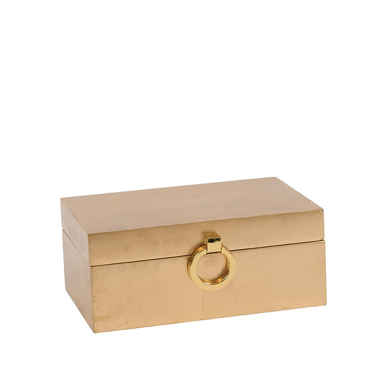 Brushed Gold Trinket Box, Small