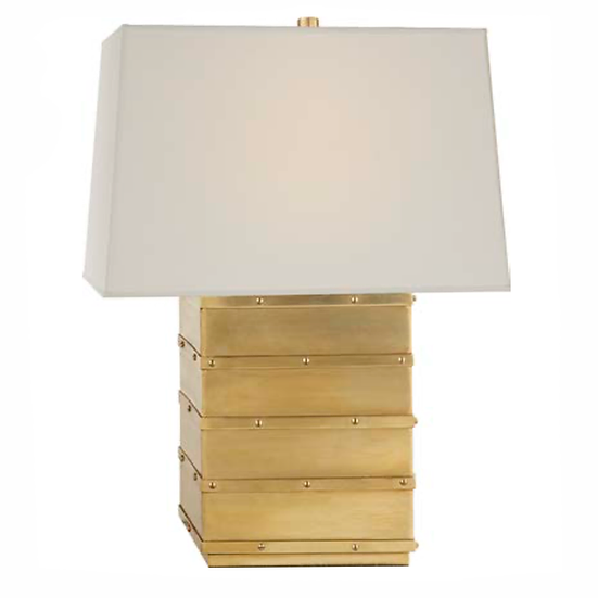 RALPH LAUREN Bleeker Bedside Lamp, Natural Brass