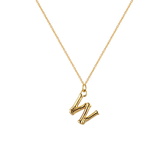 """W"" Initial Pendant Necklace"