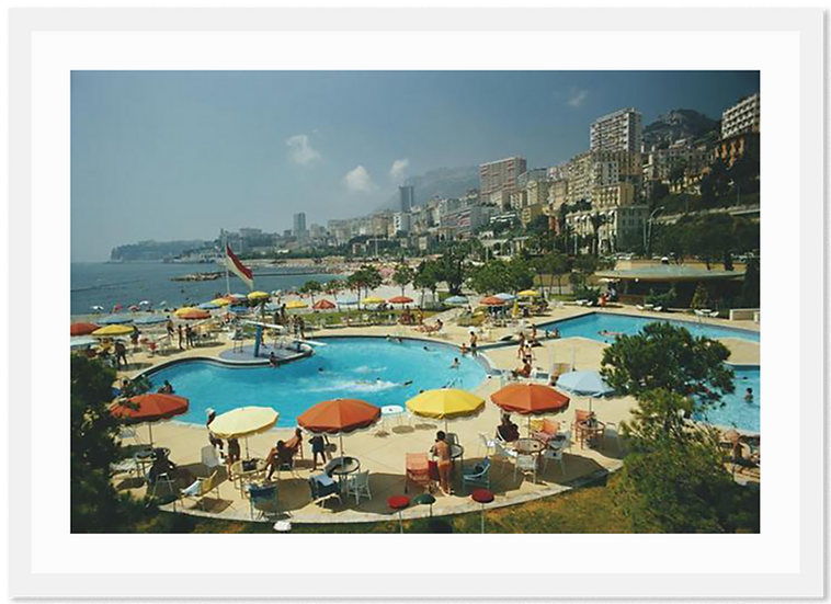SLIM AARONS Monte Carlo Beach Club