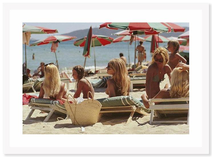 SLIM AARONS Saint-Tropez Beach