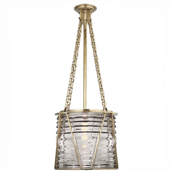 RALPH LAUREN Chatham Large Pendant in Natural Brass