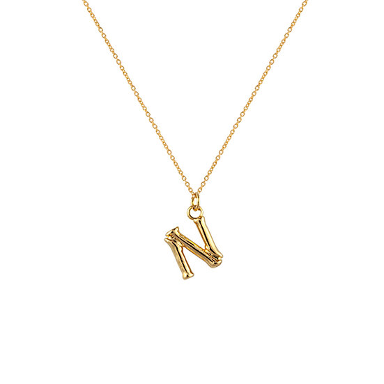"""N"" Initial Pendant Necklace"