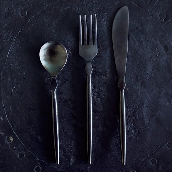 Stainless Steel 3 Piece Cutlery Set, Black