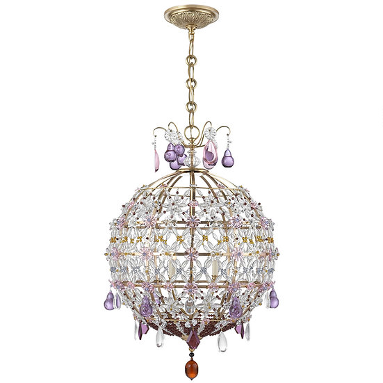 AERIN Heather Antique Brass Chandelier