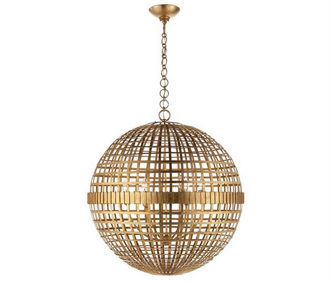 AERIN Mill Large Globe Lantern, Gild