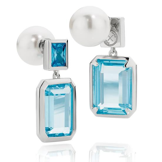 Reversible Sterling Silver Earrings
