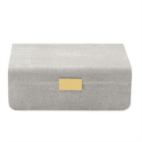 AERIN Modern Shagreen Large Jewellery Box